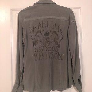 3for$25💜Harley Davidson Shirt - Size S
